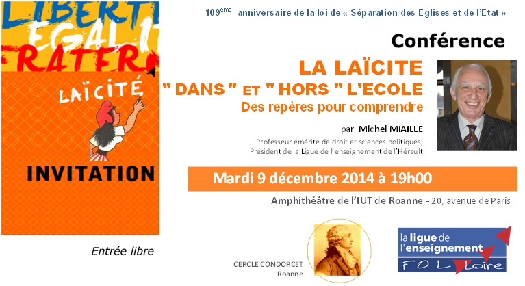 invitation conférence Michel MIAILLE