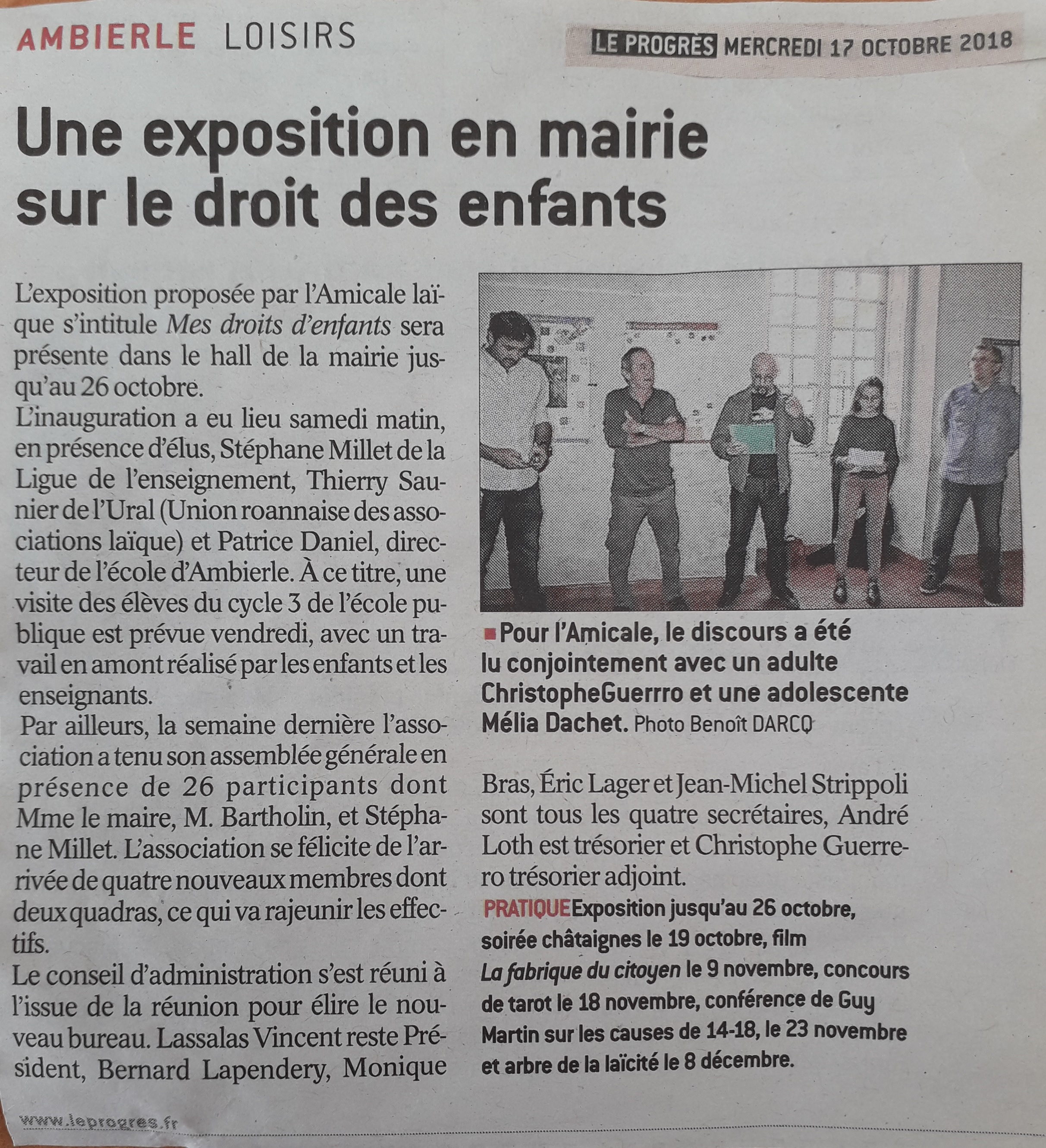 article presse expo Ambierle